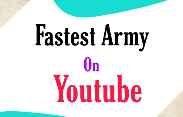 Who Is The Fastest Growing Army on YouTube 2021